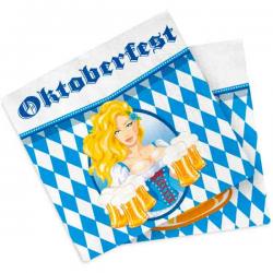 Oktoberfest Servietter. Tyroler Pige 20 stk.