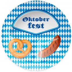 Tredelt Oktoberfest Paptallerken 8 stk.