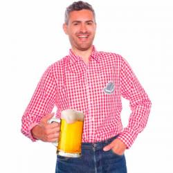 Rød & Hvid Ternet skjorte Oktoberfest XL/XXL
