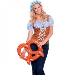 Lyseblå tyroler top Oktoberfest L/XL