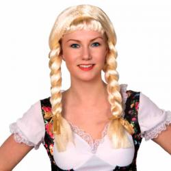 Heidi paryk med fletninger