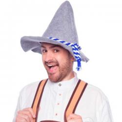 Bavarian Seppelhut til Oktoberfest Blå & hvid