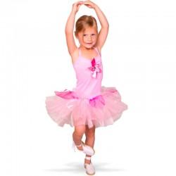 Lyserød Ballerina kjole 3-5 år