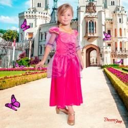 Pink Prinsesse kjole 6-8 år