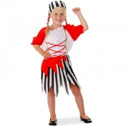 Pirat kjole 6-8 år