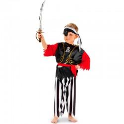Pirat kostume 6-8 år
