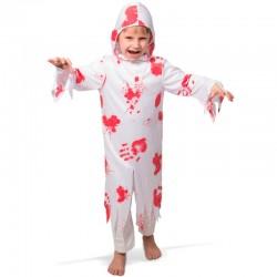 Zombi kostume med blod 3-5 år
