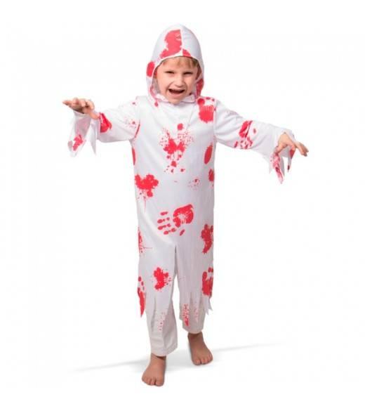 Zombi kostume med blod 6-8 år