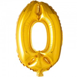 41 cm guld folie balloner tal 0