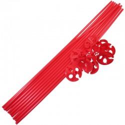 Farvede Ballonpinde 10 stk. Rød