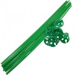 Farvede Ballonpinde 10 stk. Grøn