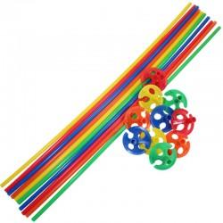 Farvede Ballonpinde 10 stk. Mix farver