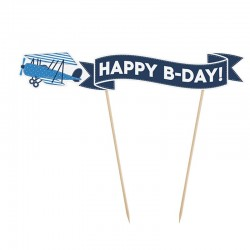 Happy B Day Lille Flyver kagepynt 1 Stk