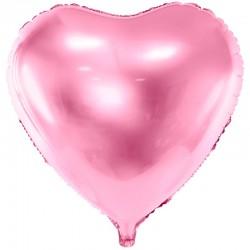 Lyserød Hjerte Folieballon 61 cm