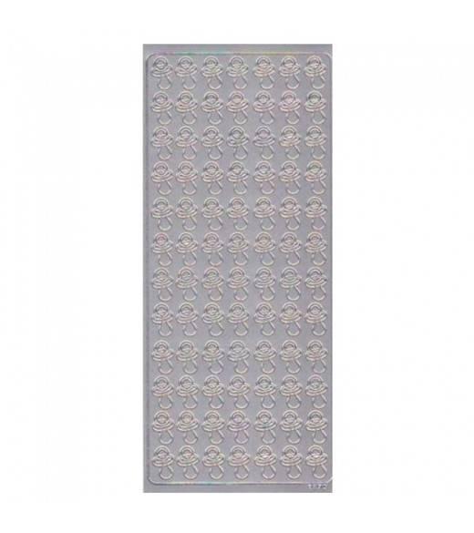 Stickers sut sølv