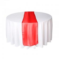 Rød organza bordløber