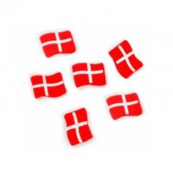 Små røde træ Dannebrogsflag 40 stk