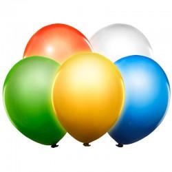 Farvede LED balloner med lys. 5 Stk