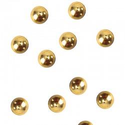 Guld perler flade. 300 Stk