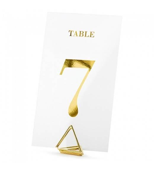 Gennemsigtige bordnummer sæt guld 1-20