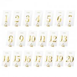 Gennemsigtige bordnummer sæt guld til bryllup og konfirmationsfest