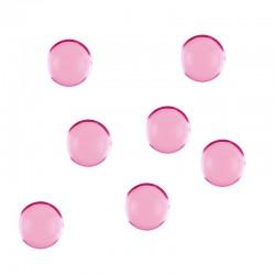 Lyserøde perler flade. 300 Stk