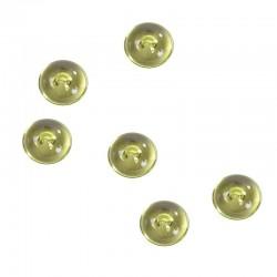 Limegrønne perler flade. 300 Stk