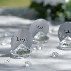 Klar diamant bordkortholder til bryllup