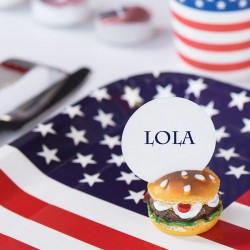 USA Bordkortholder Burger. til bordkort
