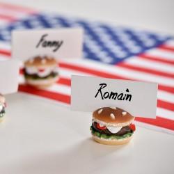 USA Bordkortholder Burger. til temafest