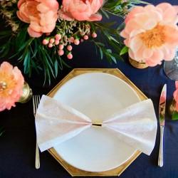 Guld servietringe til bryllup