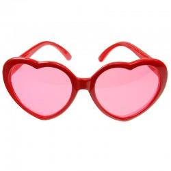Røde hjerte briller