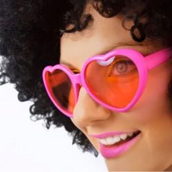 Pink hjerte briller til en tur med pigerne i byen