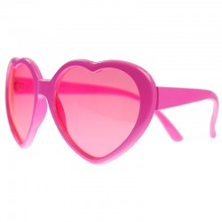 Pink hjerte briller set fra siden