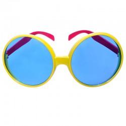 Gule briller blå glas