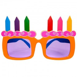 Orange kagelys fødselsdags brille