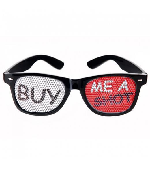 "Sorte briller ""BUY ME A SHOT"""