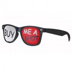 """Sorte briller """"BUY ME A SHOT"""" til piratfest"""