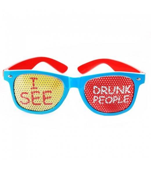 """Blå briller """"I SEE DRUNK PEOPLE"""""""