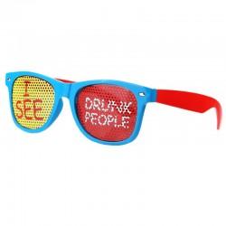 """Blå briller """"I SEE DRUNK PEOPLE"""" 18 års fødselsdag"""