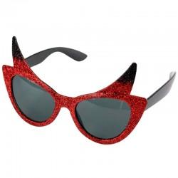 Røde glimmer djævle solbriller