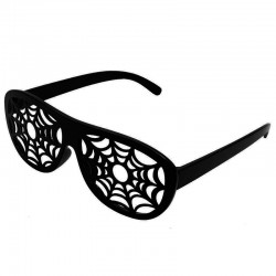 Sorte spindelvævs briller