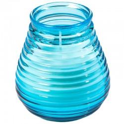 Turkisblå lys i glas