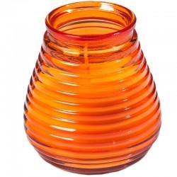 Orange lys i glas