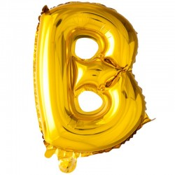 41 cm guld folie balloner bogstav B