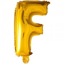 41 cm guld folie balloner bogstav F