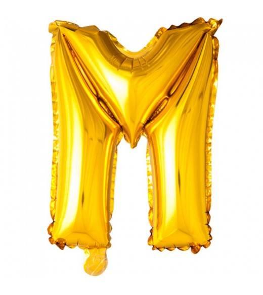 41 cm guld folie balloner bogstav M