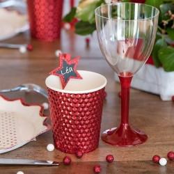 Papkrus Rød Metallic til jul
