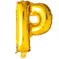 41 cm guld folie balloner bogstav P