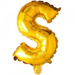 41 cm guld folie balloner bogstav S